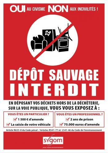 Affiche depot sauvage 1