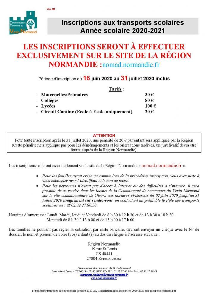 Infos inscription 2020 2021 aux transports scolaires page 001