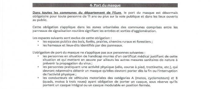 Port du masque obligatoire page 001